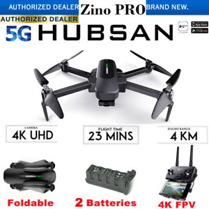 Hubsan ZINO PRO Drone 5G Wifi 4KM 4K Camera Foldable Quadcopter 3Gimbal+2Battery