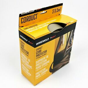 Legrand CORDUCT WIREMOLD 5' of Cord Protector with Two Sided Tape NIB Beige