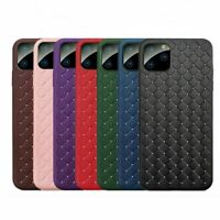 Per IPHONE 6-11 pro Massimo Custodia Cover Tessuta Design Morbido Ecopelle pelle