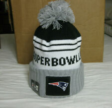 0e37fedd571 New England Patriots New Era NFL Super Bowl LIII Participant Pom Knit Hat -  OSFM