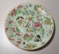 China Porzellan wandteller Tongzhi Nian-Zhi 1870 celadon da qing famille rose