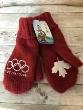 NEW 2010 Vancouver Winter Olympics Canada Red Mittens Size S/M NWT With Tags