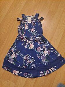 Girls BNWT Blue Lipsy Floral Dress Size 11-12 Yrs