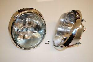 NEW Porsche Chrome H1 headlights headlight head light 911 912 sold as a pair