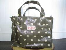 Cath Kidston Tote Bag Polkadot 100% pvc Coated Cotton, Gray / Green