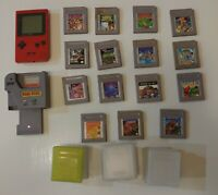 Nintendo Gameboy Pocket Bundle: Games, Accessories, and more! Authentic & tested
