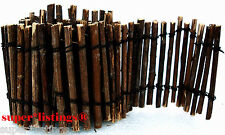 Dept. 56 Twig Snow Fence Wood Brown 4 feet long 3 inch tall New 52598