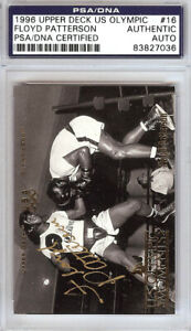 Floyd Patterson Autographed 1996 Upper Deck US Olympic Card #16 PSA/DNA 83827036