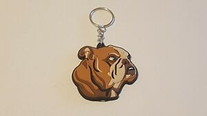 British English Bulldog 3D Key Anneau Bag Charm Dog Lovers Gift Stocking Filler