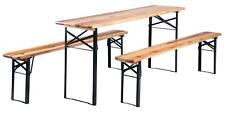 German Style Wooden Beer Party Table Outdoor Folding Garden Bench Patio Set