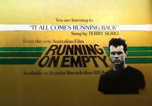 RUNNING ON EMPTY 1982 Orig drive-in cinema movie glass slide Aussie classic