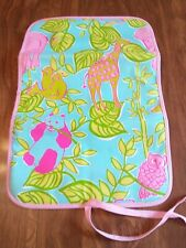 Lilly Pulitzer Baby Changing Pad Animals Print Fold & Tie NWOT