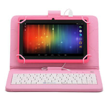"iRULU 7"" Google Android 4.4 8GB Tablet PC Quad Core Dual Camera with Keyboard"