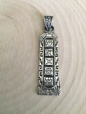 Mexico 925 pyramid sterling silver tribal aztec mayan totem style pendant EUC