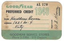 1948 Goodyear Preferred Credit Card / Goodyear Service stores Ft. Smith Arkansas