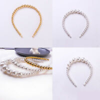 Elegant Women Girls Pearl Hair Hoop Hair Band Headband Headdress Hair Accessory