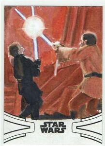 Star Wars Skywalker Saga 2019 Topps 1/1 Artist Sketch Card Ian MacDougall