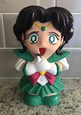 "HTF Sailor Moon Sailor Jupiter Anime Coin Bank 8"" Green"
