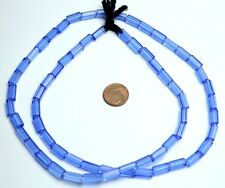 Strang azules pentagonal lápiz abalorios de Bohemia