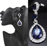 Fashion Women's Crystal Elegant Drop Dangle Rhinestone Ear Stud Earrings Jewelry