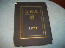 1921 BRIDGETON HIGH SCHOOL YEARBOOK NJ BRIDGETON NEW JERSEY HARD TO FND!!!