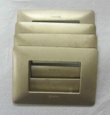 STOCK 4 PZ COPRI INTERRUTTORE BTICINO MATIX PLACCA 3 MODULI AM4803MGL GOLD