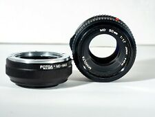 Minolta MD 50mm f1:1.7 Camera Lens with Fotga M4/3 Micro four thirds adapter