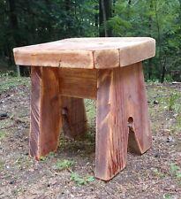 """New listing Primitive Farmhouse Solid Wood Stool (11"""" H x 11 1/2"""" W x 9"""" L)"""
