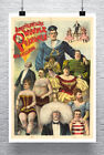Austellung Sideshow Vintage Sideshow Poster Giclee Print on Canvas or Paper