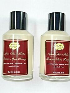 The Art of Shaving After-Shave Balm Sandalwood Essential Oil 2 pc x 3.3 oz  New