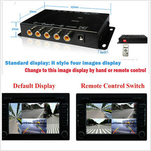 4-Way Front/Rear/Right/Left Parking View Camera Video Switch Combine Control Box