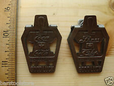 DRINK Pepsi COLA and Coca Cola GOOD LUCK CLIP LUCKY HORSESHOE PAPER CLIP