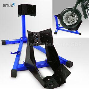BITUXX Motorrad Montageständer vorne Motorradständer Transportständer Vorderrad