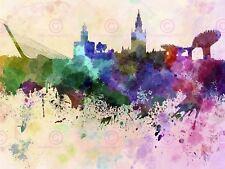 Pintura Paisaje Urbano Pintura Splash horizonte Sevilla Art Print MP5286A