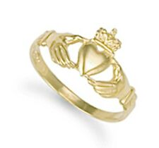 9Carat Unbranded Yellow Gold Fine Rings without Stones