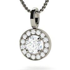 Diamond  Vs1 / H Necklace 0.40ct Brilliant Cut 18ct White Gold Pendant Necklace