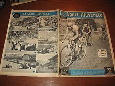 LO SPORT ILLUSTRATO GAZZETTA 1951/20 FIORENZO MAGNI COPPI ASCARI BASKET EUROPEI