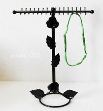 New necklace & bracelet 32 hooks , black display stand rack holder