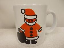 Waechtersbach W Germany Christmas Holiday Santa Claus White Coffee Tea Cup Mug