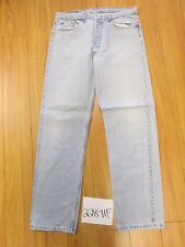 Used Levi 501 USA repairs grunge feather jean tag 38x34 meas 34x33 22891F