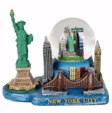 "Statue of Liberty New York City Skyline Water Globe Souvenir Figurine 4""W New"