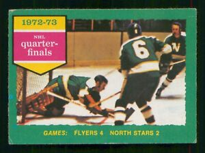 FLYERS 4 NORTH STARS 2 1973-74 O-PEE-CHEE 1973-74 NO 192 EX+     56489
