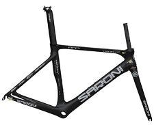 52cm Road Bike Frame Fork Carbon Aero Seatpost V brake Race 700C black matt