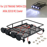 Roof Rack with LED Light Spotlight for 1/10 TRAXXAS TAMIYA CC01 AXIAL SCX10 Car