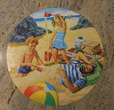 "125 Piece Whitman Family Affair Jigsaw Puzzle 20"" Diameter Round"