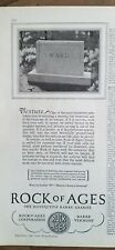 1928 Rock of Ages burial  Monument Cemetery texture name Ward ad