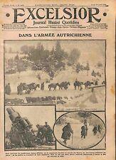 Patrol Austria Army Artillery Battle of Galicia Galicie Poland Pologne WWI 1915