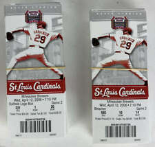 2006 Cardinals Season Tickets Game 2 onward Complete Full