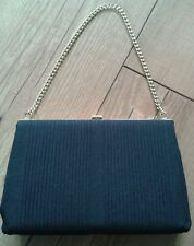 Vintage evening bag, black, gold chain