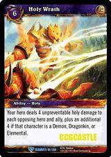 WOW WARCRAFT TCG WAR OF ELEMENTS :Holy Wrath X 4